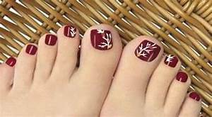 Autumn toe nail art designs ideas fall nails