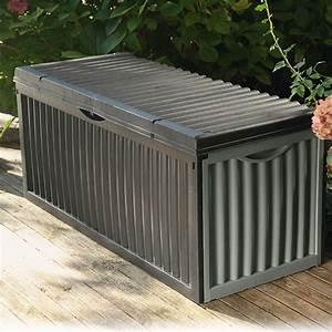Garten Klappstühle Kunststoff : garten aufbewahrungsbox wave anthrazit 120 x 52 x 54 cm kunststoff bauhaus ~ Markanthonyermac.com Haus und Dekorationen