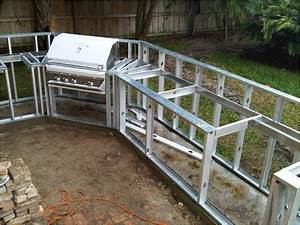 Diy bbq grill island plans 2015 best auto reviews for Outdoor kitchen frame