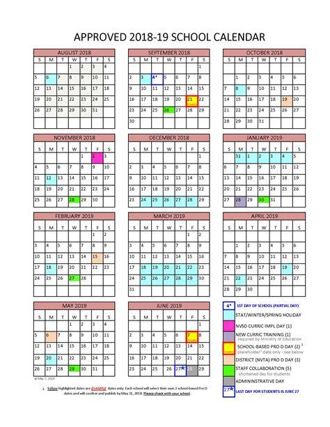 district calendar north vancouver school district