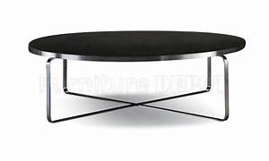 Coffee table round black coffee table black round coffee for Black round wooden coffee table