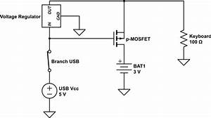 mosfet wall adapter battery select circuit electrical With adapter circuit