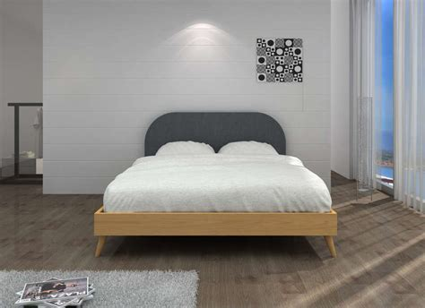 meuble de chambre a coucher en bois lit design scandinave achatdesign