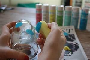 Ouvrir Un Pot De Peinture : diy recycler un pot de confiture en photophore pois ~ Medecine-chirurgie-esthetiques.com Avis de Voitures