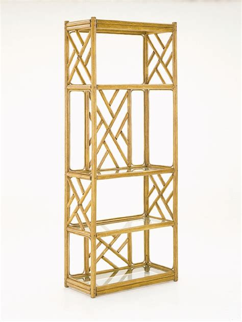 Etagere Glass Shelves by C3066 Rattan Etagere W Glass Shelves