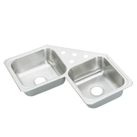 elkay stainless steel kitchen sink elkay drop in stainless steel 32 in 4 8865