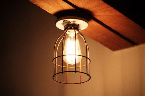 Vintage / Industrial Style Porcelain Light Fixture With