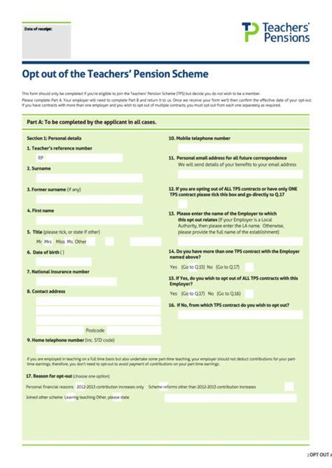 opt    teachers pension scheme printable
