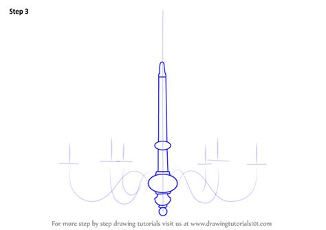 learn how to draw a chandelier furniture step by step