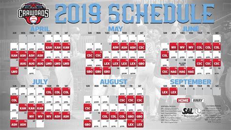 crawdads schedule released crawdads