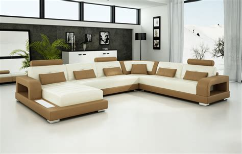 Light Brown Leather Sectional by Olympian Sofas Pesaro Light Brown Leather Sofa Sectional
