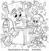 Bath Clipart Coloring Bannykh Alex sketch template