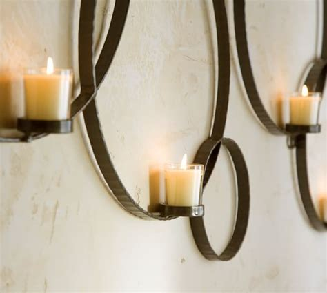 wall mount candle holder circles wall mount votive holder pottery barn