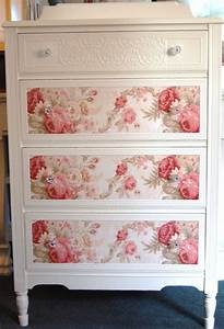 Shabby Chic Dresser : cottage chic dresser with roses by daniscustomdesigns she does very cool cottage style ~ Sanjose-hotels-ca.com Haus und Dekorationen