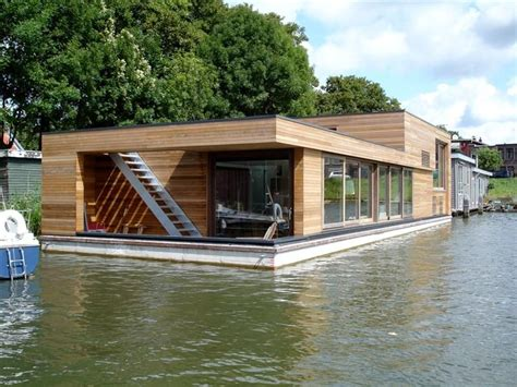 Houseboat Wood houseboat netherlands wood outerior haus