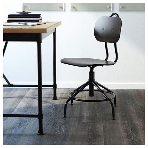 chaise métal industriel kullaberg swivel chair black ikea