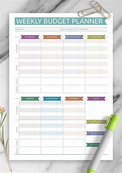 Budget Weekly Template Printable Simple Expense Casual