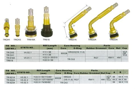 Car Tyre Valves Types