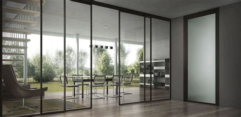 exterior glass sliding door for open home office