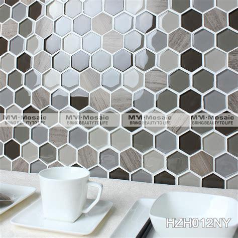 mosaico piastrelle cucina 2 quot esagono piastrelle cucina in vetro mosaico mosaici id