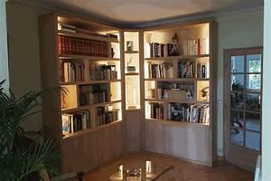 Luminaire D Angle : biblioth que d 39 angle contemporaine avec clairage ~ Teatrodelosmanantiales.com Idées de Décoration