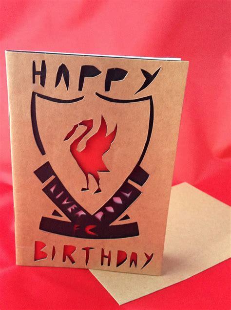 liverpool fc unofficial handmade birthday card folksy