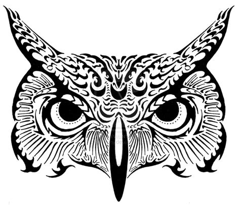 evil owl tattoo   clip art  clip