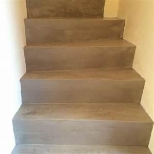 Recouvrir Escalier Béton : awesome recouvrir un escalier en bois de beton cire 6 ~ Premium-room.com Idées de Décoration