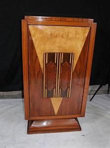 Art Deco Cocktail Drinks Cabinet Blonde Walnut Inlay Chest ...