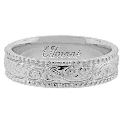 platinum mm antique wedding band comfort fit awbplt