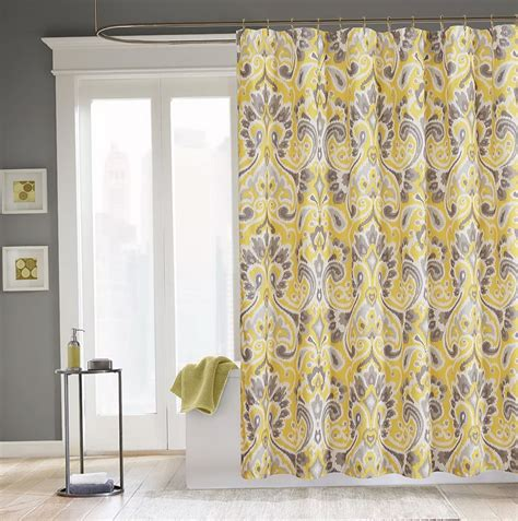 yellow and grey shower curtain gray and yellow shower curtain www pixshark images