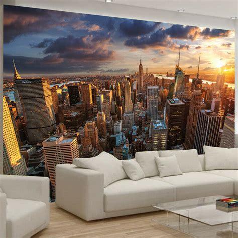 New York Bedroom Wallpaper Ebay by New York City Building Skyline Manhattan Photo Wallpaper