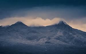 Nature, Landscape, Mountain, Mist, Clouds, Skye, Scotland, Uk, Rock, Dark, Island, Hill