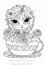 Digi Stamps Coloring Pages Flower Pot Sunshine Zinnia Stamp Lacy Weebly Colouring Pretties Digital Pots Lacysunshine Flowers Eyes Books Fantasy sketch template