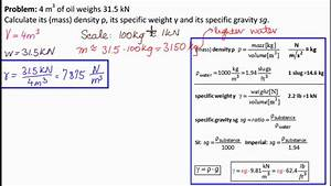 Specific Weight  Density And Gravity Of Fluid 1