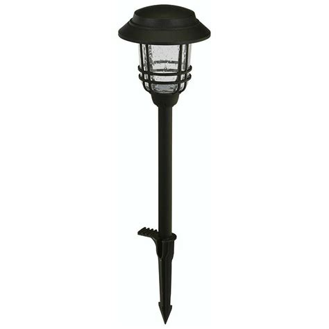 hton bay low voltage led black bollard light price tracking