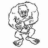 Yeti Coloring Pages Inc Monsters Monster Printable Cute Getcolorings Brock Toddler Fungus sketch template