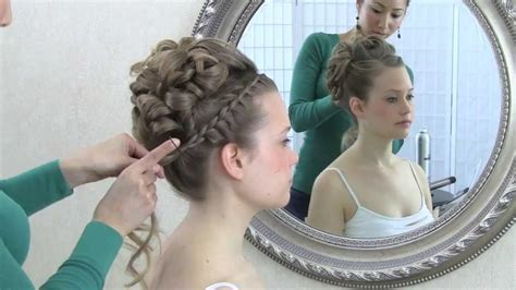wedding hair tutorial updo with curls and front braid youtube