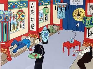Le Lotus Bleu Levallois : tintin lotus bleu par herg illustration ~ Gottalentnigeria.com Avis de Voitures