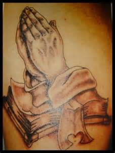 Praying Hands with Bible Verse Tattoo
