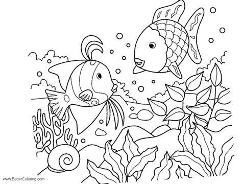 Under The Sea Coloring Pages Line Art