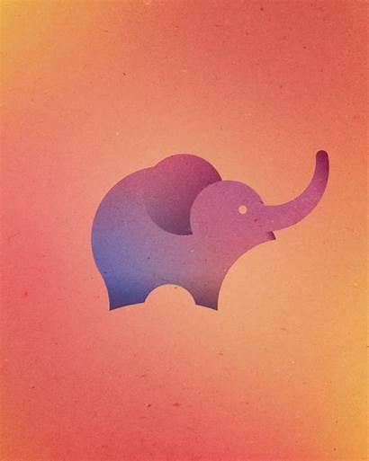 Circles Animals Elephant Poster