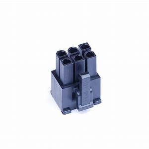 Shakmods 6 Pin Aux Power Supply Connector Socket Black   6