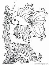 Coloring Pages Tuna Fish Printable Getcolorings Animal sketch template