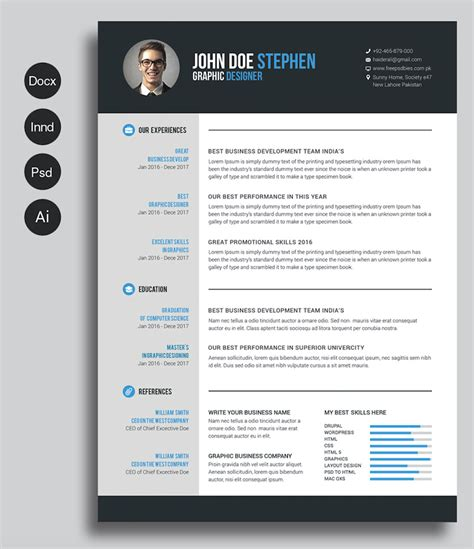 printable resume templates     dream job