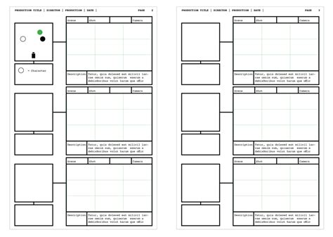Design Storyboard Template by Indesign Storyboard Template