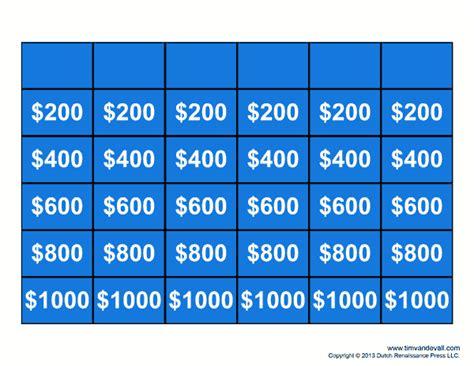 jeopardy template    jeopardy game