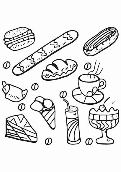 Coloring Pages Adults Cakes Cupcakes Cupcake Desserts