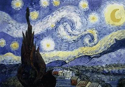 Night Starry Painting Van Gogh Come Maudit