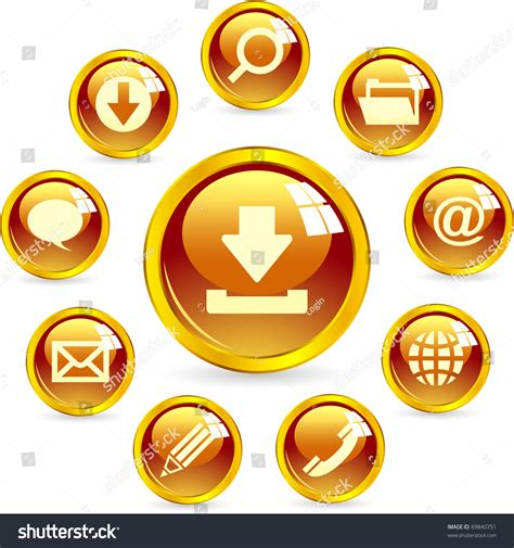 vector web icon email phone contact stock vector